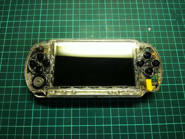 PSP1000外装調整(アナログスティック故障治らず)
