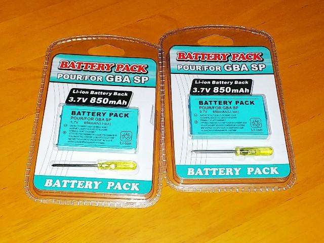 GBA(ゲームボーイアドバンス) SPバッテリー交換方法