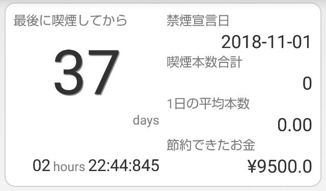 禁煙37日